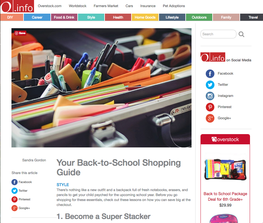 Overstock.com: Your Back to School Shopping Guide
